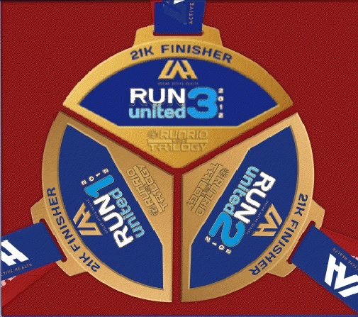 2012 Run United 3 - 21K Finishers Medal