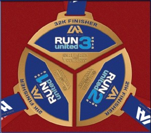 2012 Run United 3 - 32K Finishers Medal