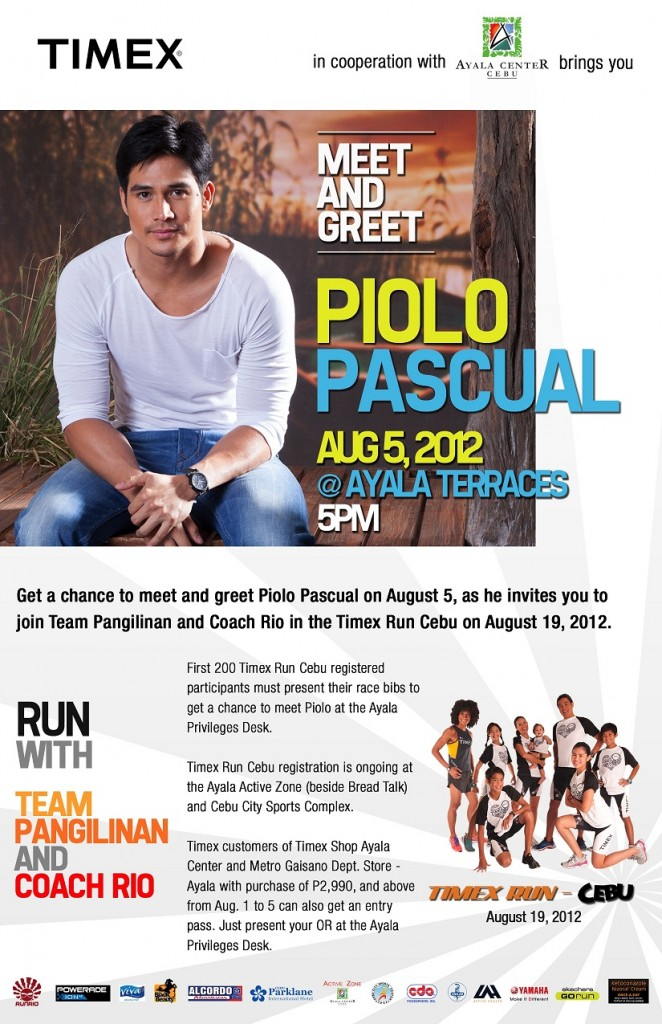 Meet & Greet Piolo at Ayala Center Cebu on August 5