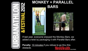 Men's Health Urbanathlon and Festival 2012 - Monkey Parallel Bar