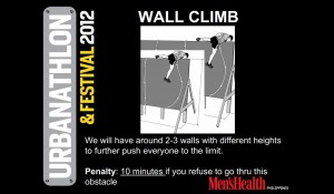 Men's Health Urbanathlon and Festival 2012 - Wall Climbing