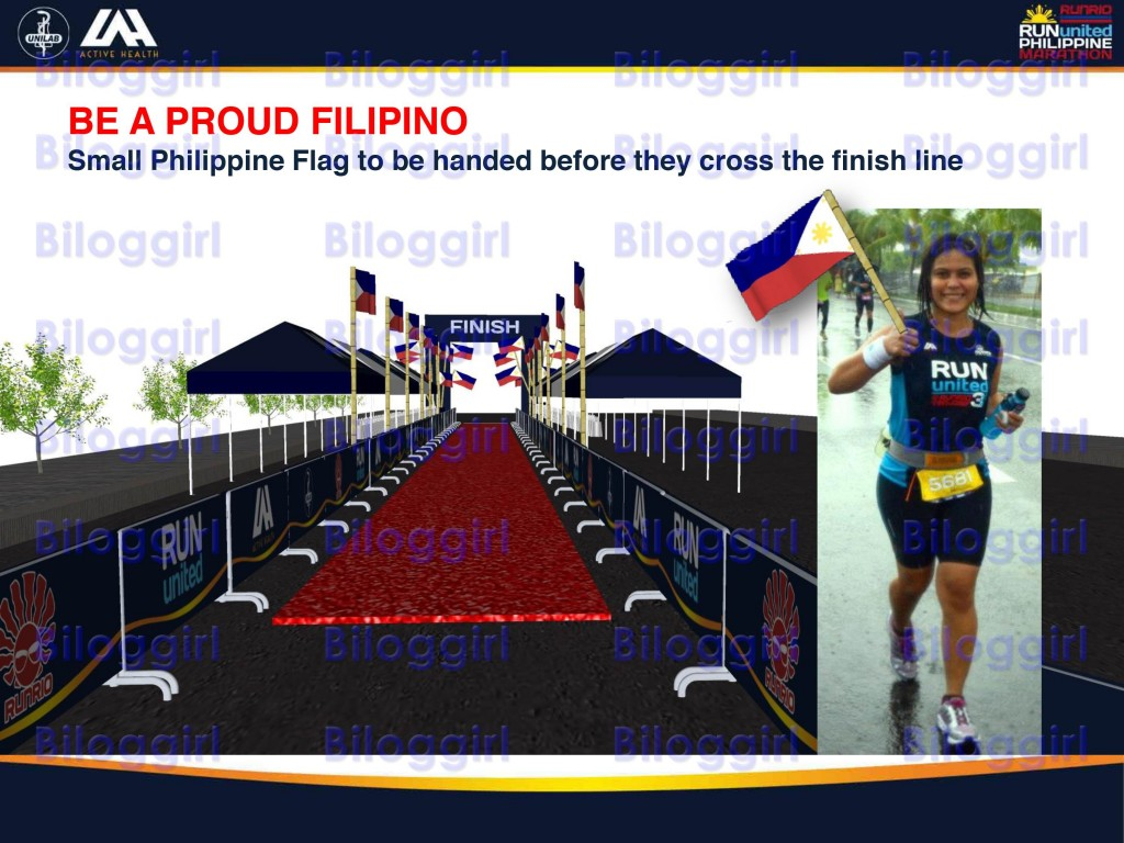 Run United Philippine Marathon 42K Flag