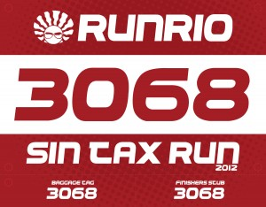 Sin Tax Run 2012 - Bib