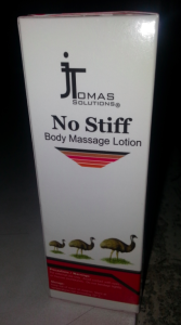 No Stiff Body Massage Lotion Box