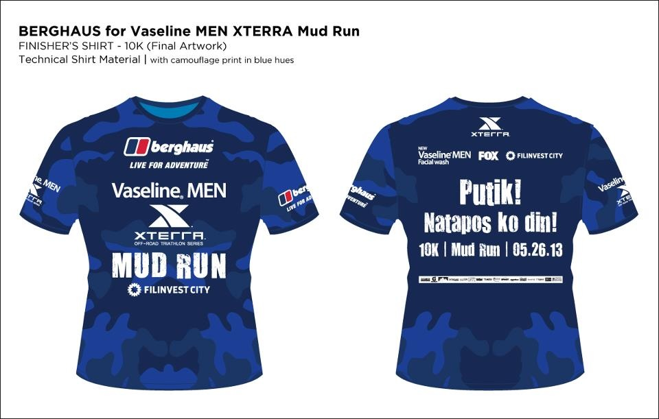 Vaseline Xterra Mud Run 10 Finisher Shirt