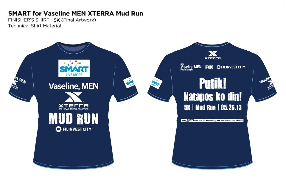 Vaseline Xterra Mud Run 5K Finisher Shirt