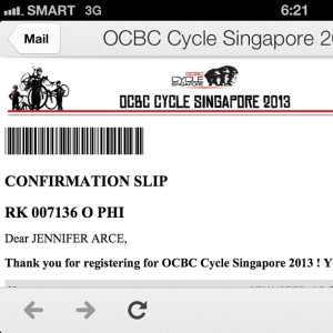OCBC Cycles Confirmed Registration