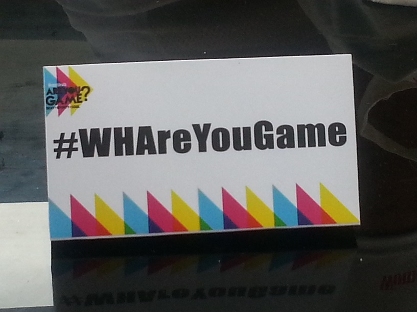 All social media links and posts are funneled in hashtag #WHAreYouGame