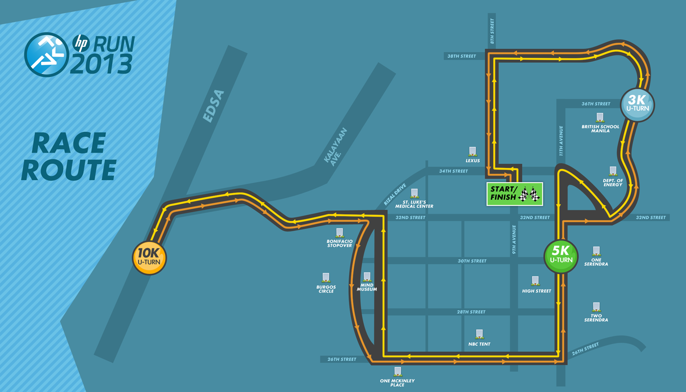 HP Run 2013 Route
