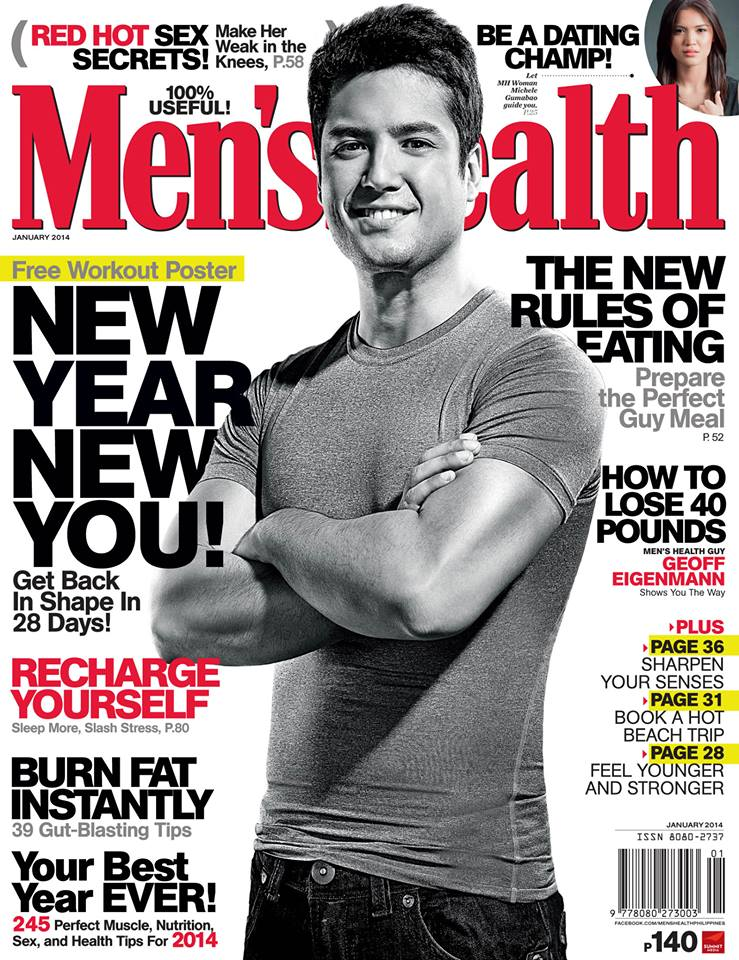 Men's Health Philippines - January 2014 - Geoff Eigenmann