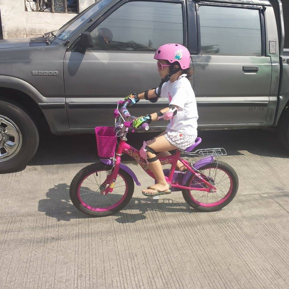 Paige on Pink Bike