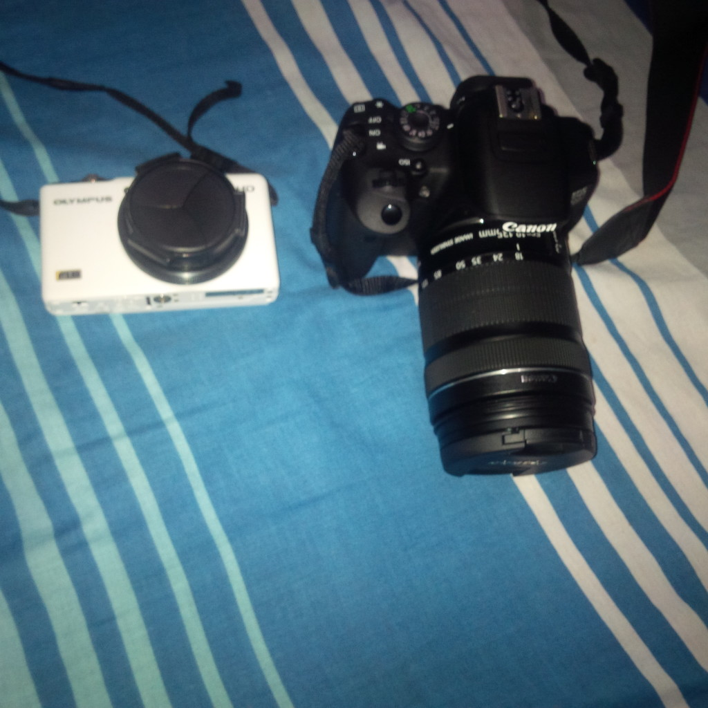 Olympus and Canon 700d